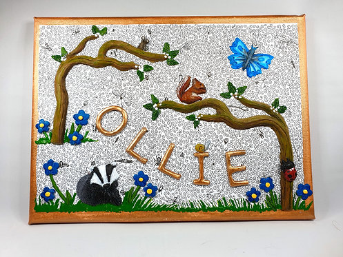 Woodland Name Plaque (Personalised - Made to order)