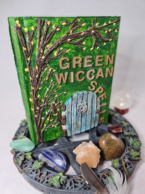 Green Wiccan Spell Book