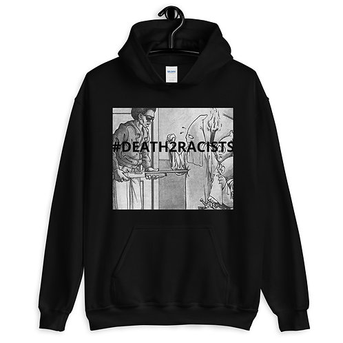 #DEATH2RACISTS WITH A SHOTGUN HOODIE