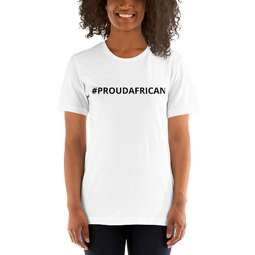 #PROUDAFRICAN SHIRT WHITE