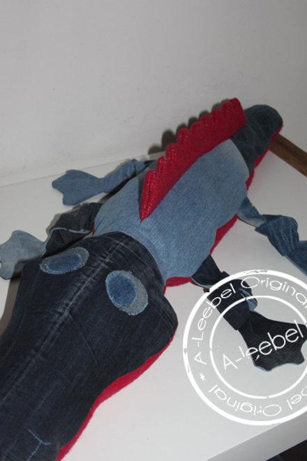 Krokodil van jeans