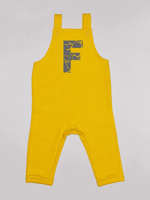Cracked Initial Dungarees