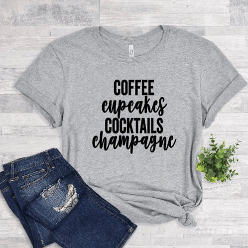 Coffee Cupcakes Cocktails Champagne