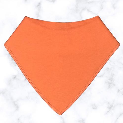 Tangerine Orange Dribble Bib