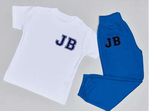 College Initial Jogger and T-Shirt Set