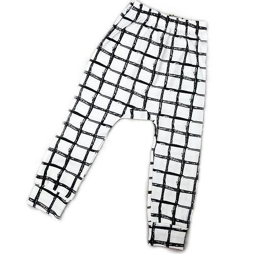 Graffiti Square Harem Pants