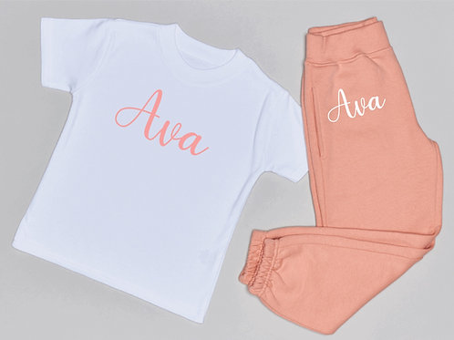 Personalised Jogger and T-Shirt Set