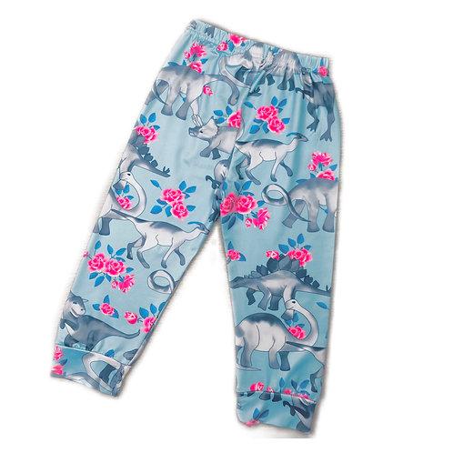 Floral Dino Harem Pants