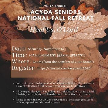 2020 AYCOA Seniors - National Fall Retre