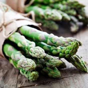 gegrilde asperges / amandelen / edamame / knoflook /zeezout