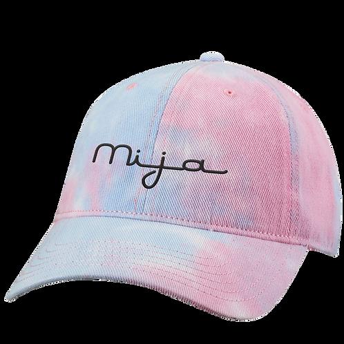 Mija - Embroidered - Tie - Dye - Cap
