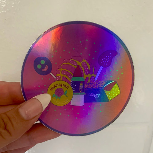 Dulces Holographic Sticker