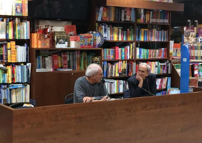 Gino Castaldo con Massimo Pasquini