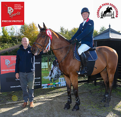 Codham Park Equestrian PP Sports Insurance Sponsored Class winner
