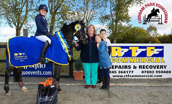 Codham Park Equestrian RTF Commercial Sponsored League Winner