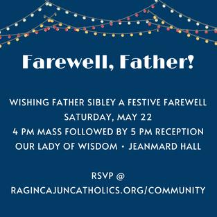 Parish Farewell Party • RSVP