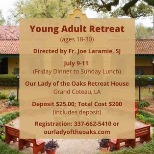 Young Adult Retreat • Click here to register