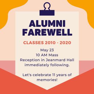 Please RSVP • Alumni Farewell Party