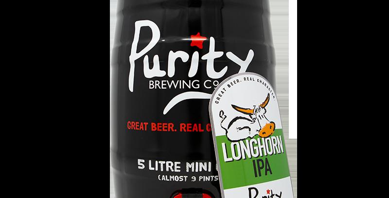 Purity Brewery - 5 Litre mini cask - Longhorn IPA