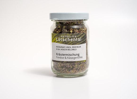 Herb mixture for fondue