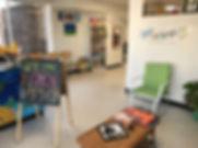 Children's Art Studio with kids art hanging