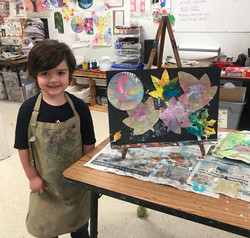 William with his creation!