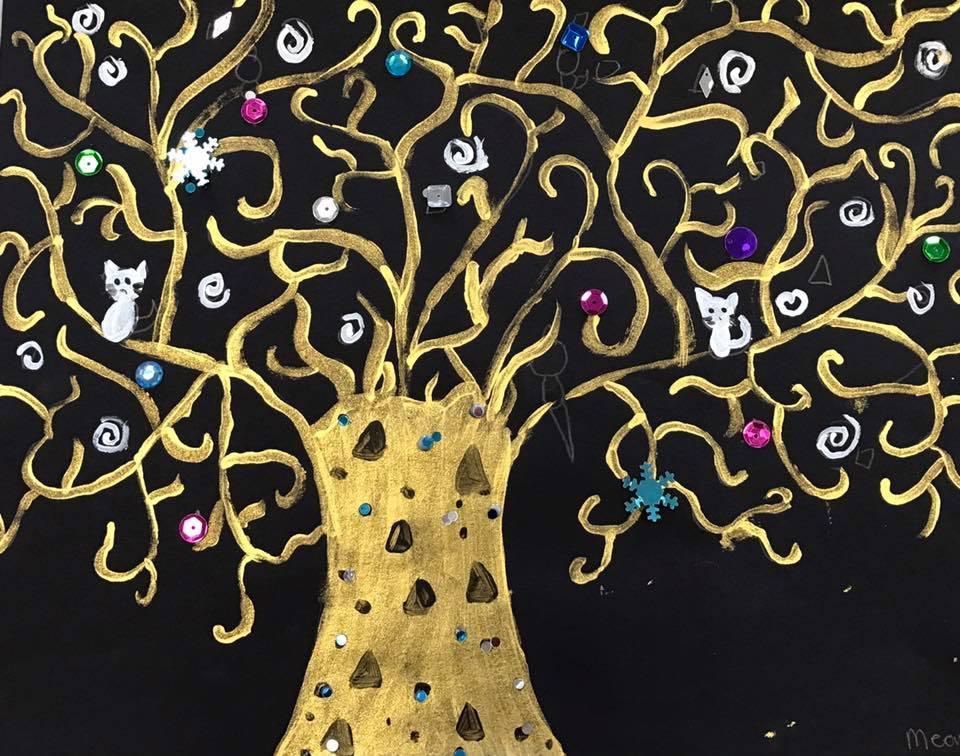 Klimt-style Tree