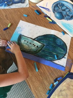 Picasso's Blue Period Melon