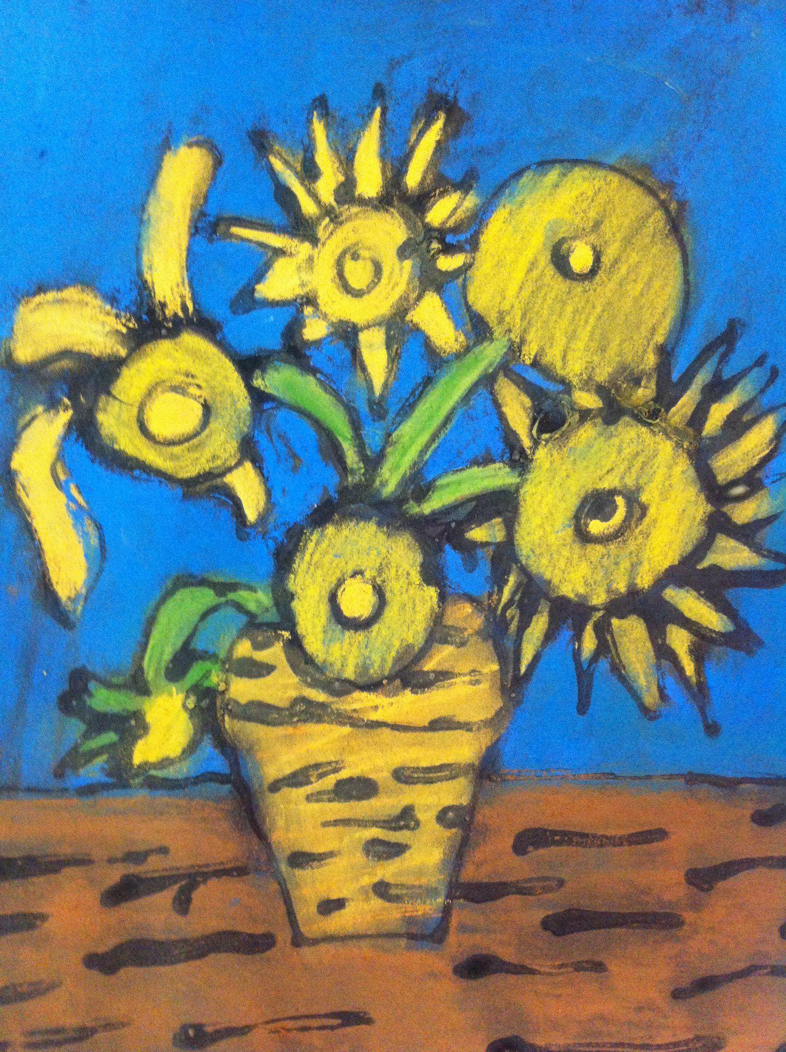 Van Gogh-style Sunflowers