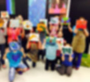 Kids Canvas Painting in childrens art studio