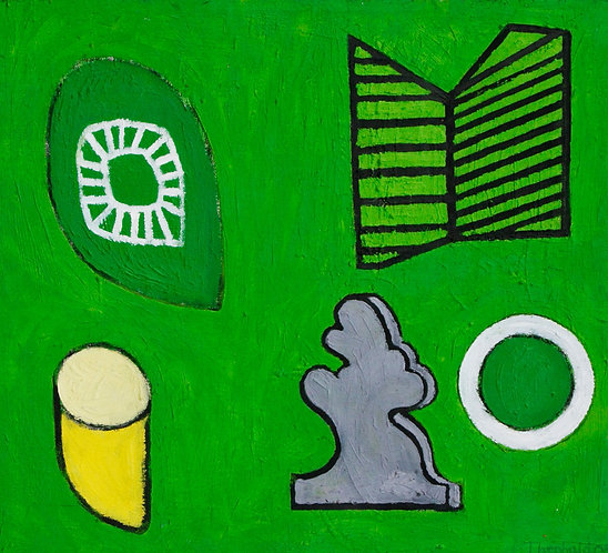 'Leaf, Book, Popeye, Stone, Wheel' 2005