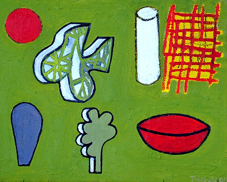 'Wheel, Cloud, Bone, Net, Stone, Leaf, Bowl' 2005