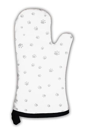 Oven Mitt, Footprint of Cat and Dog