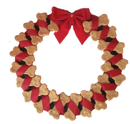 Dog Bone Wreath (Qty 1)