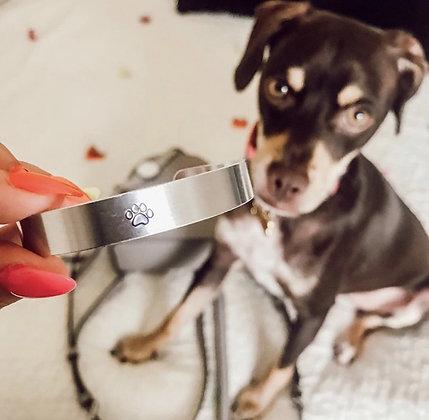 Paw Print Aluminum Cuff Bracelet Benefitting Austin Pets Alive!