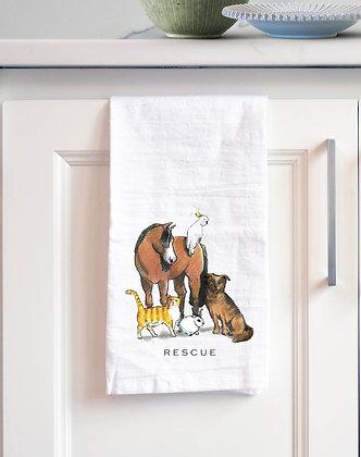 Rescue Tea Towel