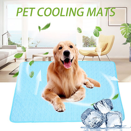 Dog Mat Cooling Summer Pad Mat Blanket Washable for Small Medium Large Dogs
