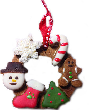 Holiday Woof Wreath (Qty 6)