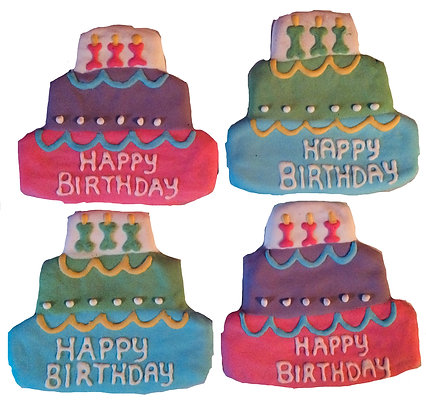 Birthday Cake Dog Treats (Qty 2)
