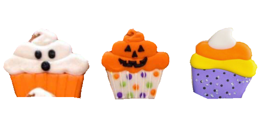 Halloween Cupcakes Dog Treats Packaged