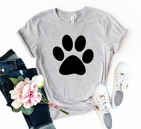 Paw Shirt Dog Paw Short Sleeve Shirt