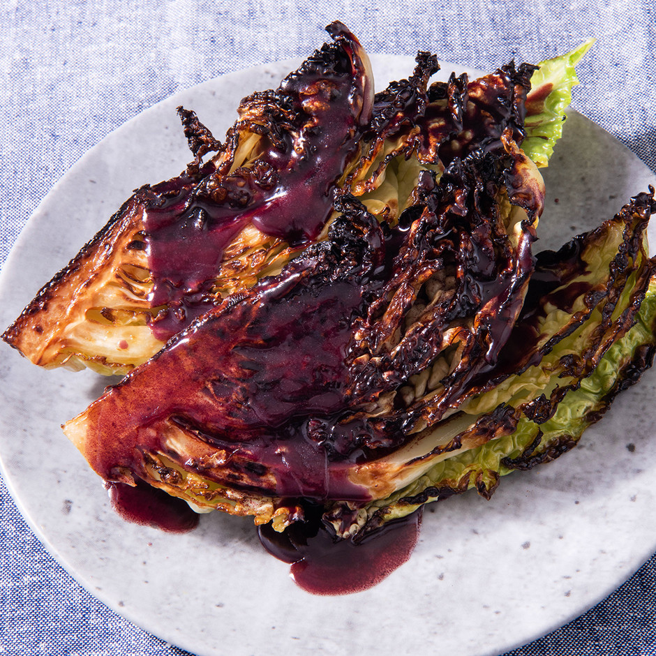 Charred Cabbage with Sauce Beurre Rouge