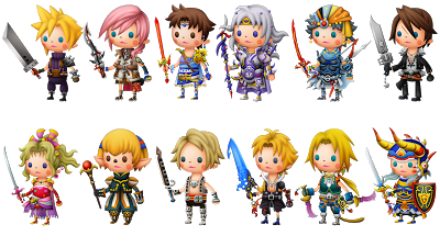 Theatrhythm characters
