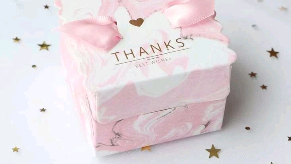 Thank you  box with 10 mini melts pink and white box