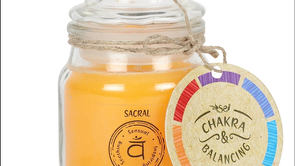 9cm Sacral Chakra Scented Candle