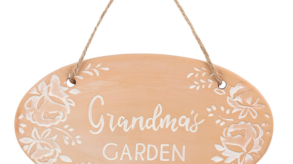 Grandmas Garden Terracotta Plaque