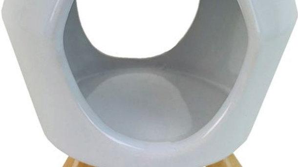 Abstract White Ceramic Burner