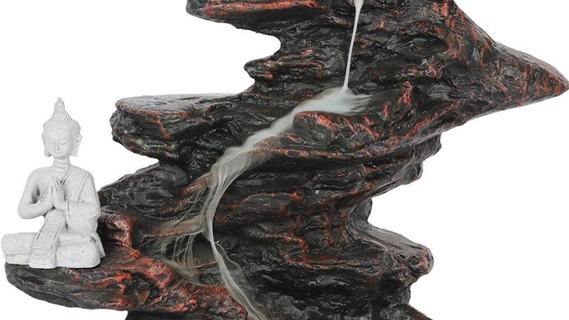 25cm budda on the rocks backflow cone burner