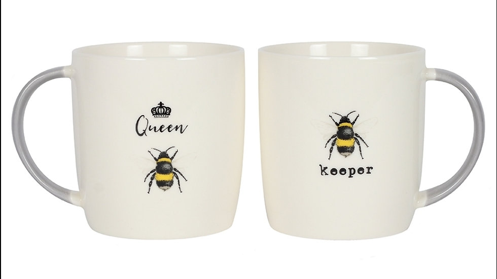 His and Hers Bee Mug Set