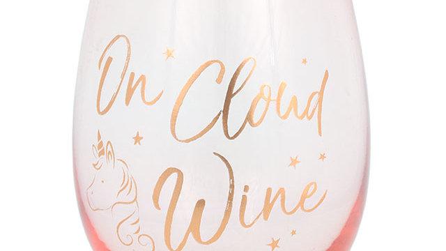 On cloud wine glass